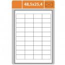 Etikety na archu A4-48,5x25,4