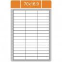 Etikety na archu A4-70x16,9